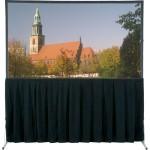 "Heavy Duty Fast-Fold Deluxe Adjustable Skirt Bar - 11'6"" x 19'8"" - for HDTV Screen Format"