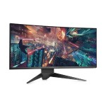 "Alienware AW3418DW - LED monitor - curved - 34.14"" (34.14"" viewable) - 3440 x 1440 WQHD - IPS - 300 cd/m² - 1000:1 - 4 ms - HDMI, DisplayPort - epic silver - with 3-Years Advanced Exchange Service and Premium Panel Guarantee"