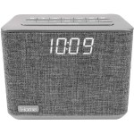 iBT232 Bluetooth Alarm Clock Radio + USB Charging - Grey