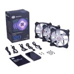MasterFan Pro 120 Air Flow RGB 3-in-1 with RGB LED Controller