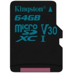 64GB microSDXC Canvas Go 90/45 U3 UHS-I V30 Single Pack without Adapter