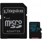 64GB microSDXC Canvas Go 90R/45W U3 UHS-I V30 Card + SD Adapter