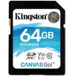 64GB SDXC Canvas Go 90R/45W CL10 U3 V30