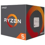Ryzen 5 2600 6-core/12-thread, 65W, Socket AM4, 19MB Cache, 3900MHz with AMD Wraith Stealth Cooler