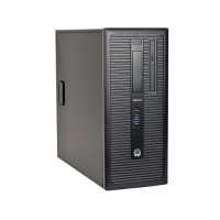 HP Inc. EliteDesk 800 G1 Intel Core i5-4670 Quad-Core 3.40GHz Mini Tower PC - 8GB RAM, 500GB HDD, DVD-ROM, Windows 10 Pro 64-bit - Refurbished ?PC2-0928-DUP