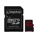 128GB microSDXC Canvas React  100R/80W U3 UHS-I V30 A1 Card + SD Adptr