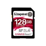 128GB SDXC Canvas React 100R/80W CL10 UHS-I U3 V30 A1