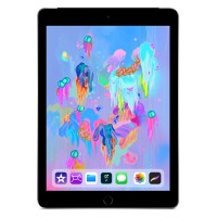 Apple iPad Wi-Fi + Cellular for Apple SIM 128GB with Engraving - Space Gray - Released 2018 MR7C2LL/A