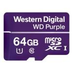 WD Purple WDD064G1P0A - Flash memory card - 64 GB - UHS-I U1 / Class10 - microSDXC - purple