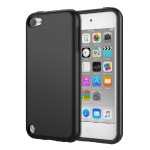 iPod Touch 6/iPod Touch 5, 2 in 1 Shock Absorbing TPU Bumper Ultra Slim Protective Case with Hard Back Cover for Apple iPod Touch 6th/5th Generation - Black