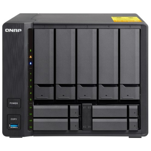 TS-932X - NAS server - 9 bays - SATA 6Gb/s - RAID 0, 1, 5, 6, 10, 50, JBOD, 5 hot spare, 6 hot spare, 60, 50 hot spare, 10 hot spare, 60 hot spare - RAM 2 GB - Gigabit Ethernet / 10 Gigabit Ethernet - iSCSI