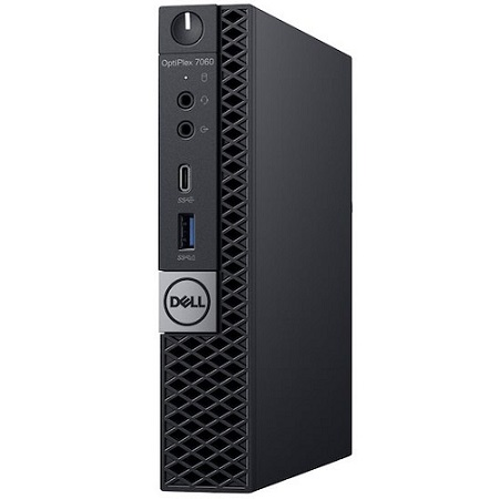 Dell OptiPlex 7060 8th Gen Intel Core i5-8500T Six-Core 2 10GHz Micro Form  Factor PC - vPro, 8GB RAM, 128GB M 2 PCIe NVMe Class 20 SSD, Intel UHD