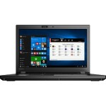 "ThinkPad P52 20M9 8th Gen Intel Core i7-8850H 6-Core 2.60GHz Notebook PC - vPro, 16GB RAM, 512GB SSD M.2 PCIe NVMe Opal2, 15.6"" FHD (1920x1080) IPS Display, NVIDIA Quadro P3200 6GB, Intel 9560 ac 2x2, Bluetooth 5.0, Webcam, Windows 10 Pro 64 - Black"