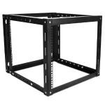 9U 800mm Adjustable Wallmount Server Cabinet with 1U Keyboard Drawer