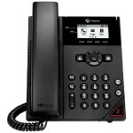 "VVX 150 Business IP Phone - VoIP phone - 2 lines - DHCP, Static - PoE - 2.5"" LCD display - Integrated Ethernet switch - Black"