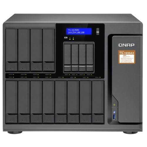 TS-1635AX - NAS server - 16 bays - SATA 6Gb/s - RAID 0, 1, 5, 6, 10, 50, JBOD, 60 - RAM 4 GB - Gigabit Ethernet / 10 Gigabit Ethernet - iSCSI