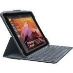 Slim Combo - Keyboard and folio case - Bluetooth - black keyboard, black case