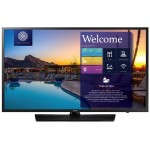 "43"" NJ477 Series Non Smart Hospitality TV - FHD (1920x1080), LED Backlight, Mega Contrast, Dolby Digital Plus, 2x HDMI, 1x USB, 200x200mm VESA, M8 Wall Mount Screw - Samsung LYNK REACH 4.0 - Black Hairline, Semi-Slim Bezel"