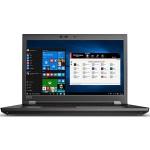 """ThinkPad P72 20MB - Xeon E-2176M / 2.7 GHz - Win 10 Pro for Workstations 64-bit - 8 GB RAM - 1 TB HDD - 17.3"""" IPS 1920 x 1080 (Full HD) - Quadro P4200 / UHD Graphics P630 - Wi-Fi, Bluetooth - black"""