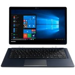 "Portégé X30T-E3142 - Tablet - with detachable keyboard - Core i5 8250U - Win 10 Pro - 8 GB RAM - 256 GB SSD NVMe - 13.3"" touchscreen 1920 x 1080 (Full HD) - UHD Graphics 620 - Wi-Fi - onyx blue metallic - kbd: English - US"
