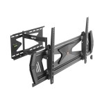 """Heavy-Duty Full-Motion Security TV Wall Mount for 37"""" to 80"""", Flat or Curved, UL Certified - Wall mount for LCD TV - steel - black - screen size: 37""""-80"""""""