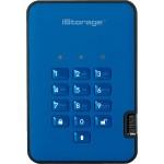 3TB diskAshur2 USB 3.1 Portable Encrypted Hard Drive - Ocean Blue