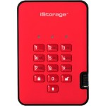 3TB diskAshur2 USB 3.1 Portable Encrypted Hard Drive - Fiery Red