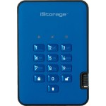 500GB diskAshur2 USB 3.1 Portable Encrypted Hard Drive - Ocean Blue