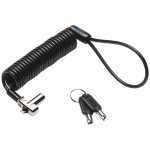 N17 Portable Keyed Laptop Lock - Standard Keyed - For Dell Devices - security cable lock - black