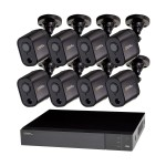 8-Channel Analog HD 1080P PIR DVR with (8) 1080P PIR Bullet Cameras and 1TB Hard Drive