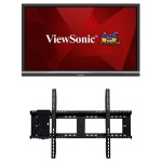 "ViewBoard IFP5550 - 55"" Class LED display - interactive communication - with built-in media player and touchscreen (multi touch) - 4K UHD (2160p) 3840 x 2160 - with  WMK-047-2 Wall Mount"