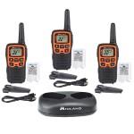 X-Talker 22 Channel FRS Walkie Talkie - Up to 28 Mile Range Two-Way Radio, 38 Privacy Codes & Weather Alert, 3 Pack, Black/Orange