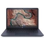 "Chromebook 14-db0090nr - A4 9120C / 1.6 GHz - Chrome OS - 4 GB RAM - 32 GB eMMC - 14"" touchscreen 1366 x 768 (HD) - Radeon R4 - Bluetooth, Wi-Fi - ink blue (cover and keyboard frame), textured finish - kbd: US"