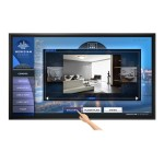 100in diagonal, 20 pt IR touch, UHD, wide color gamut panel, LED backlight, 24x7 reliability, metal bezel, landscape and portrait, wide array of inputs, OPS slot, 700 nit brightness, speakers, RS232 and LAN control Single TouchMark key included.