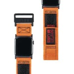 Active Watch Strap - High Strength Nylon Weave, Stainless Steel Custom Hardware, Hook & Loop Fastener Security, Designed for Apple Watch Series 1-4, Orange