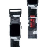 Active Watch Strap - High Strength Nylon Weave, Stainless Steel Custom Hardware, Hook & Loop Fastener Security, Designed for Apple Watch Series 1-4, Midnight