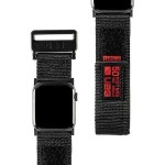 Active Watch Strap - High Strength Nylon Weave, Stainless Steel Custom Hardware, Hook & Loop Fastener Security, Designed for Apple Watch Series 1-4, Black
