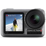 Osmo Action 4K Camera - 12 MP - Touchscreen Displays (Front and Back), Wide f/2.8 Lens, RockSteady Digital Video Stabilization, Wi-Fi, Bluetooth - Underwater up to 36ft