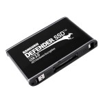 "Defender SSD Hardware Encrypted - Solid state drive - encrypted - 2 TB - external (portable) - 2.5"" - USB 3.0 - FIPS 197, 256-bit AES-XTS - matte black"