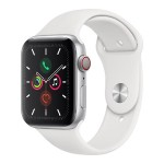 Watch Series 5 GPS + Cellular, 44mm Silver Aluminum Case with White Sport Band