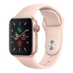 Watch Series 5 GPS + Cellular, 40mm Gold Aluminum Case with Pink Sand Sport Band - S/M & M/L