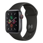 Watch Series 5 GPS + Cellular, 40mm Space Gray Aluminum Case with Black Sport Band - S/M & M/L