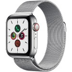 Watch Series 5 GPS + Cellular, 40mm Stainless Steel Case with Stainless Steel Milanese Loop