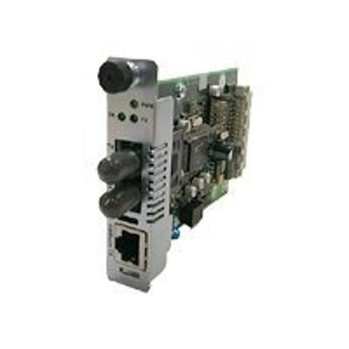 Transition Fast Ethernet with Remote Management and Bandwidth Allocation Point System Slide-In-Module Media Converter - media converter