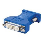 DVI Female to HD15 VGA Male Video Adapter - Display adapter - DVI-I (F) to HD-15 (M) - beige