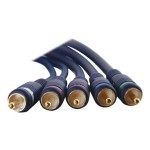 Velocity 6ft Velocity Component Video + RCA Audio Cable - Video / audio cable - component video / audio - RCA (M) to RCA (F) - 6 ft - blue