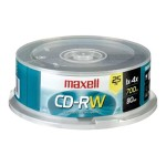 Maxell 25 Pack CD-RW Spindlw 630026