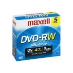 DVD-RW 4.7 GB 2x - Storage Media - Pack of 5