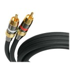 50 ft Premium Stereo Audio Cable RCA - M/M - Audio cable - RCA (M) to RCA (M) - 50 ft - black