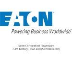 Eaton Corporation Powerware - UPS battery - 1 x lead acid  - for  5125 Model 1000, 5125 Model 1000RM 58700036-001